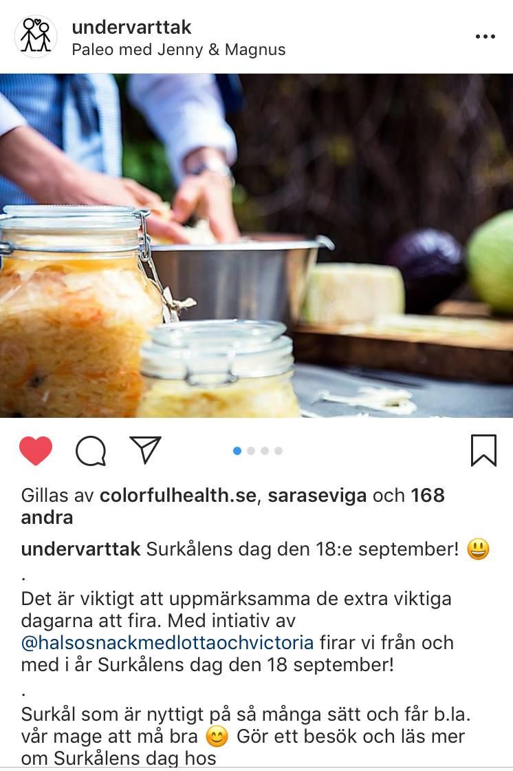 Surkålens Dag Undervarttak Hälsosnack Vitalista