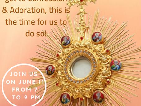 Feast of the Corpus Christi: Adoration & Confessions