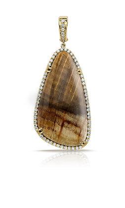 Fossilized Wood Pendant