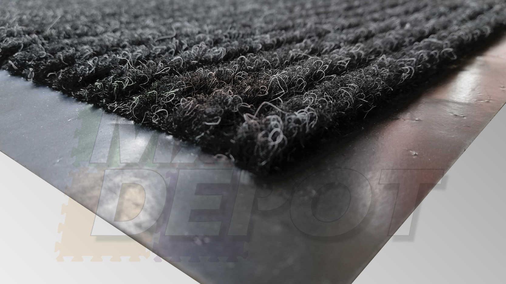 Tapete alfombra con base de hule