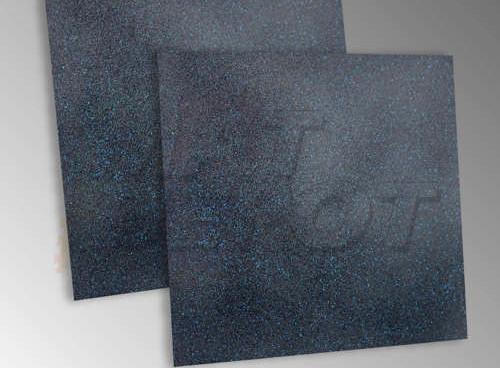 Piso de EPDM para gimnasio con puntos azules