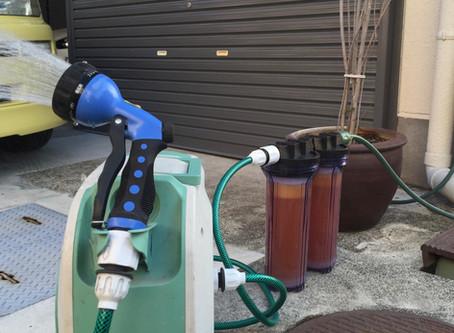 イオンデポジット・ウォータースポット・水アカ・水ジミ軽減に「洗車用軟水器」