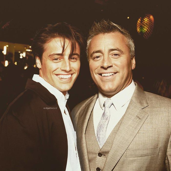50-Celebrities-hanging-out-with their-younger-selves-matt-leblanc