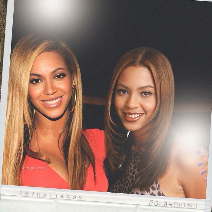 50-Celebrities-hanging-out-with their-younger-selves-Beyonce