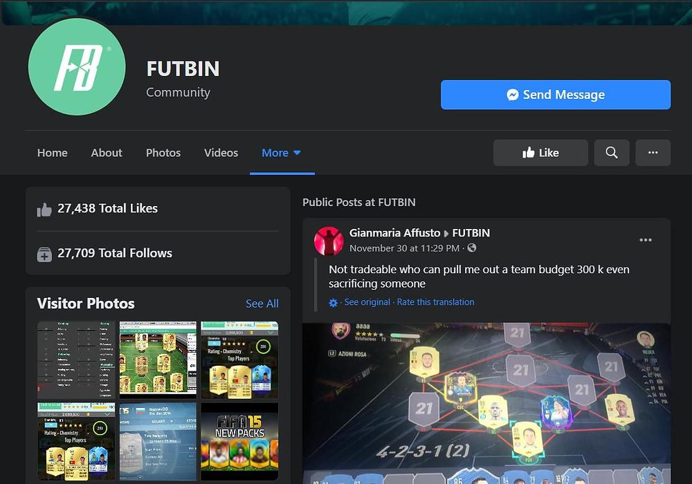 FUTBIN:  Official Facebook Account