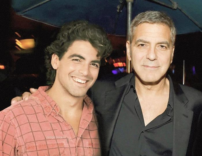 50-Celebrities-hanging-out-with their-younger-selves-George-Clooney