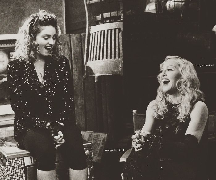 50-Celebrities-hanging-out-with their-younger-selves-Madonna