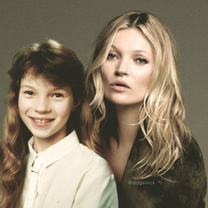 50-Celebrities-hanging-out-with their-younger-selves-Kate-Moss