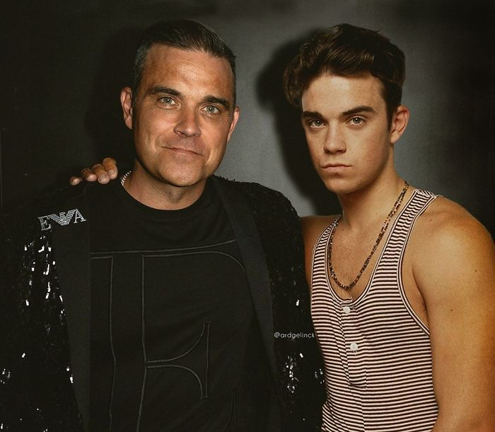 50-Celebrities-hanging-out-with their-younger-selves-Robbie-Williams