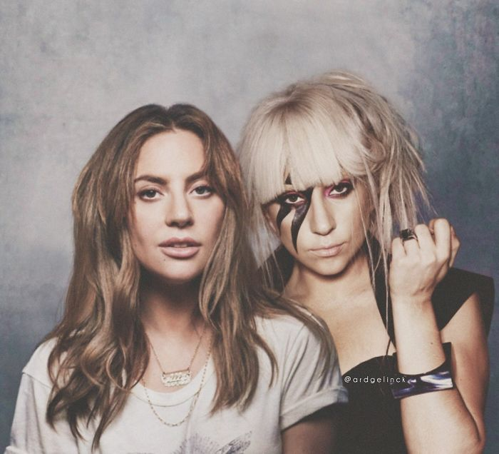 50-Celebrities-hanging-out-with their-younger-selves-Lady-Gaga