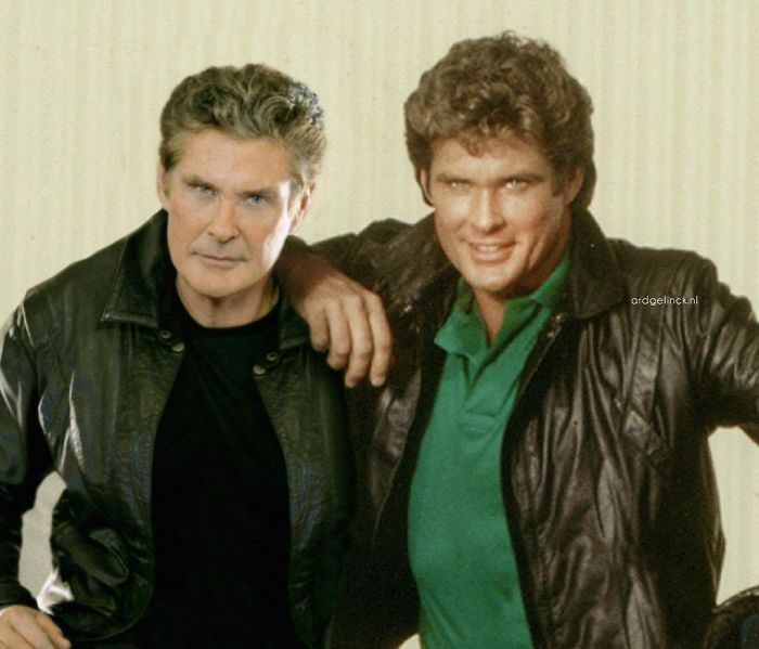 50-Celebrities-hanging-out-with their-younger-selves-David-Hasselhoff