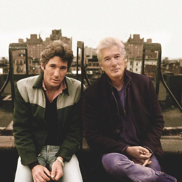 50-Celebrities-hanging-out-with their-younger-selves-Richard-Gere