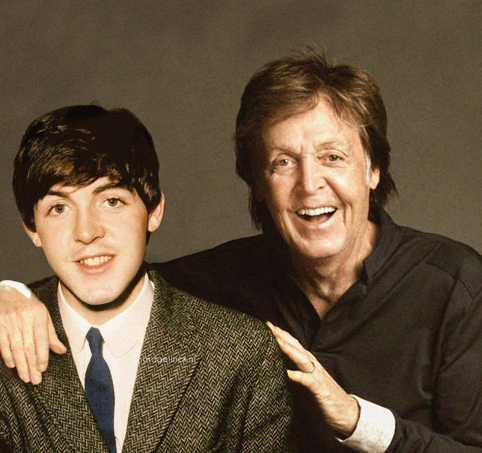 50-Celebrities-hanging-out-with their-younger-selves-Paul-Mccartney