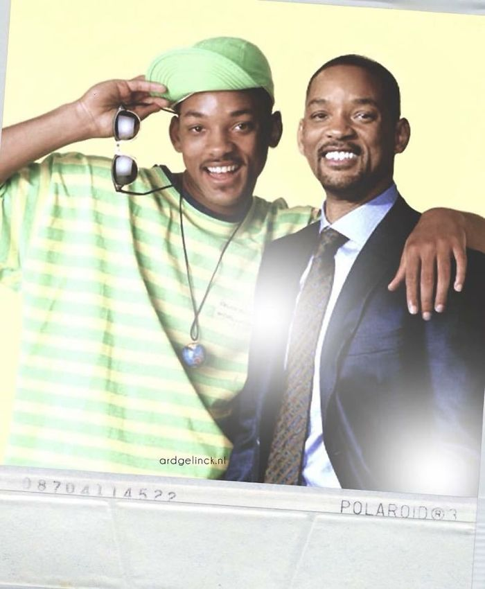 50-Celebrities-hanging-out-with their-younger-selves-Will-Smith
