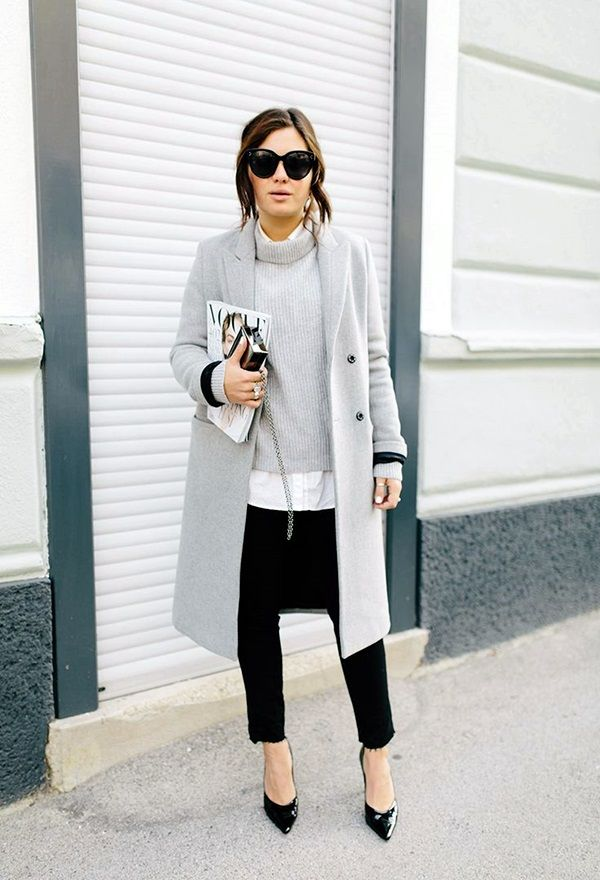 33-women's-casual-work-outfits-for-winter-white-coat-white-long