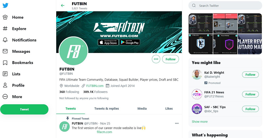 FUTBIN:  Official Twitter Account