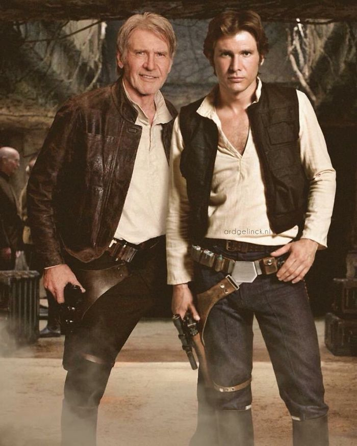 50-Celebrities-hanging-out-with their-younger-selves-Harrison-Ford