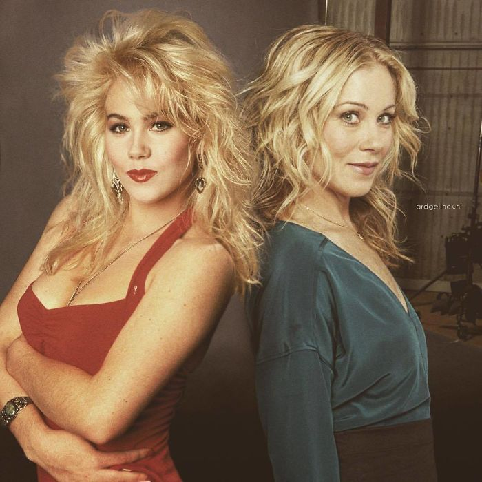 50-Celebrities-hanging-out-with their-younger-selves-Christina-Applegate
