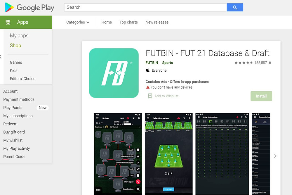 FUTBIN:  Official Google Play