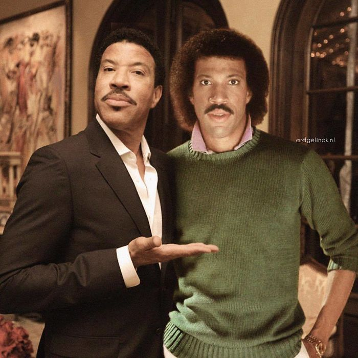 50-Celebrities-hanging-out-with their-younger-selves-Lionel-Richie
