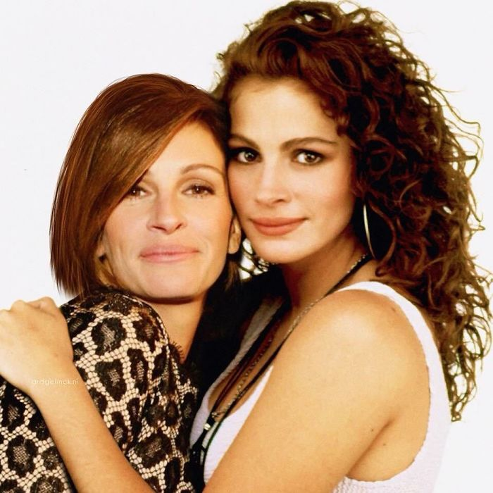 50-Celebrities-hanging-out-with their-younger-selves-Julia-Roberts