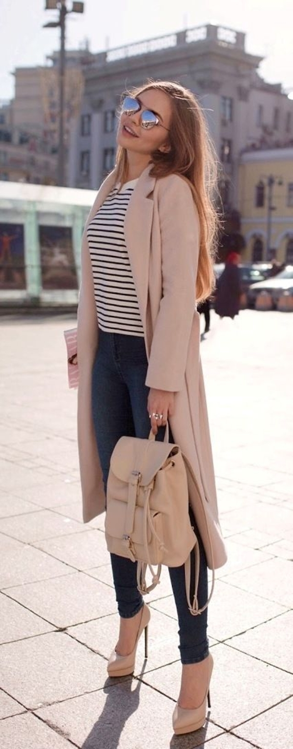 33-women's-casual-work-outfits-for-winter-pink-coat