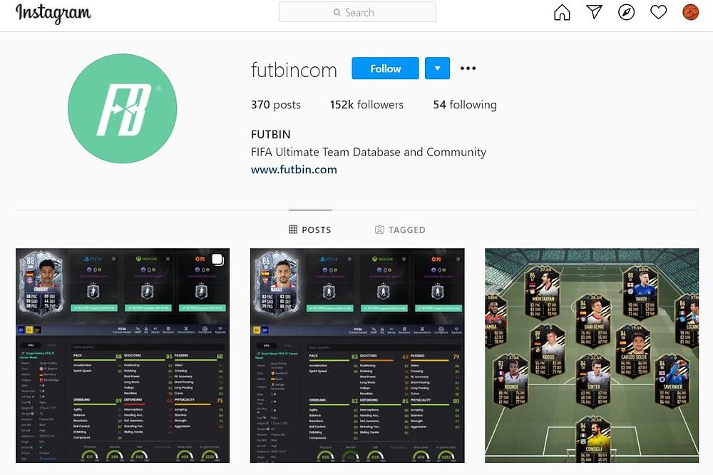 FUTBIN:  Official Instagram Account