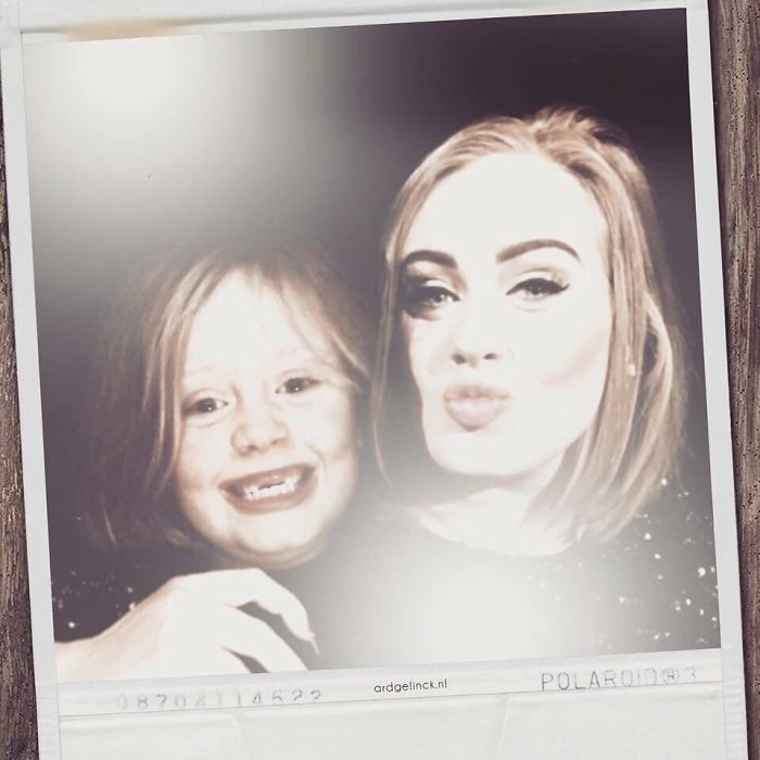 50-Celebrities-hanging-out-with their-younger-selves-adele