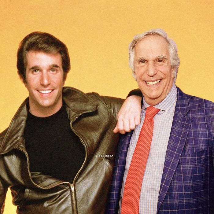 50-Celebrities-hanging-out-with their-younger-selves-Henry-Winkler