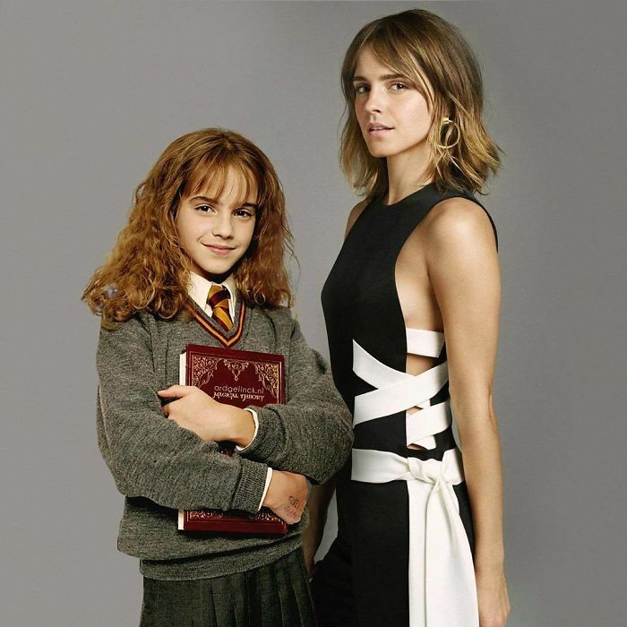 50-Celebrities-hanging-out-with their-younger-selves-Emma-Watson
