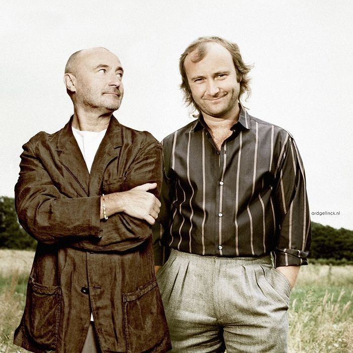 50-Celebrities-hanging-out-with their-younger-selves-Phil-Collins