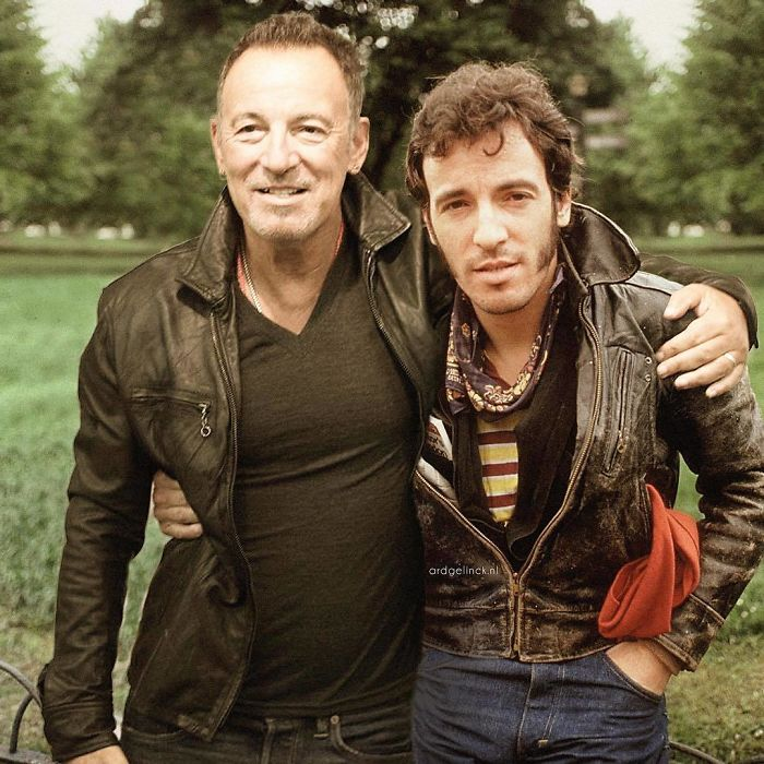 50-Celebrities-hanging-out-with their-younger-selves-Bruce-Springsteen