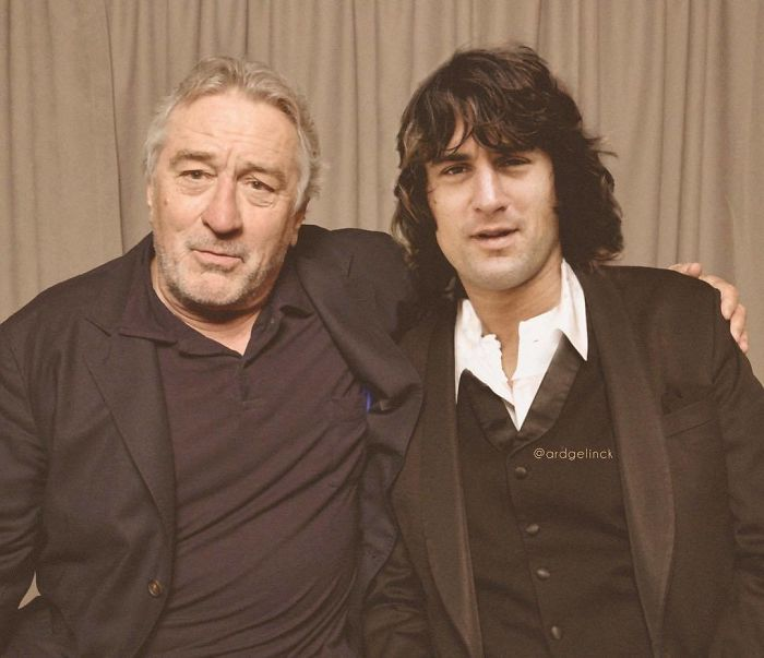 50-Celebrities-hanging-out-with their-younger-selves-Robert-De-Niro