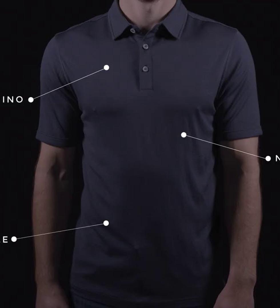 FR3ND Sustainable Merino Polo Shirt