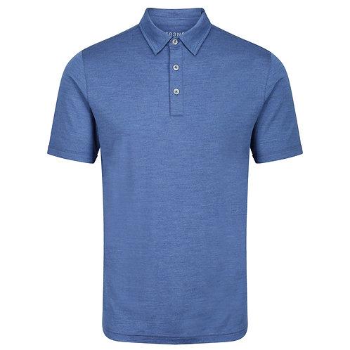 Merino Polo Shirt -  Denim