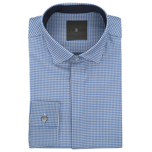 Merino Wool Shirt - Blue - Gingham