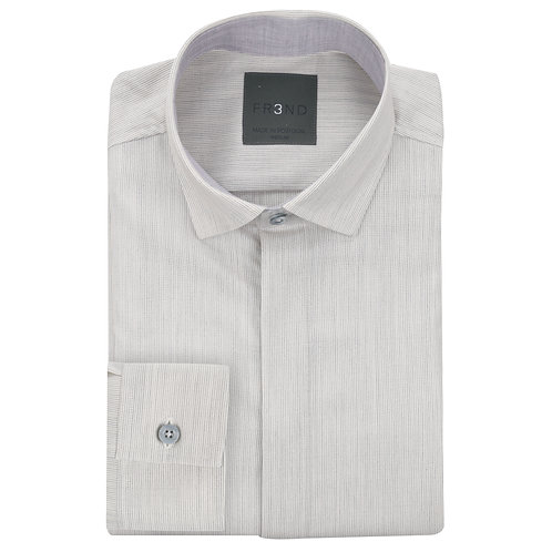 Merino Wool Shirt - Grey - Stripe