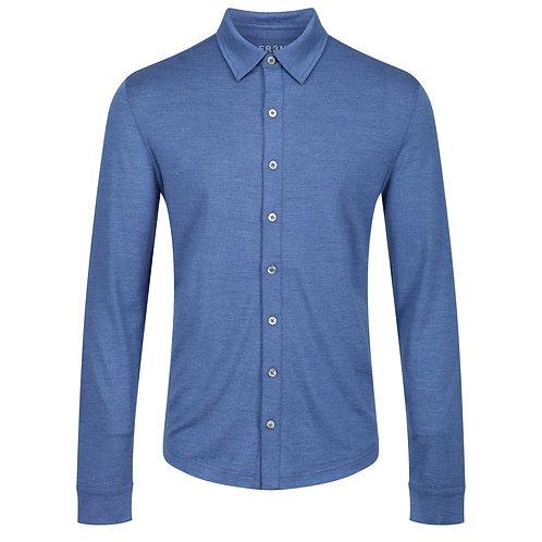Merino Jersey Shirt -  Denim