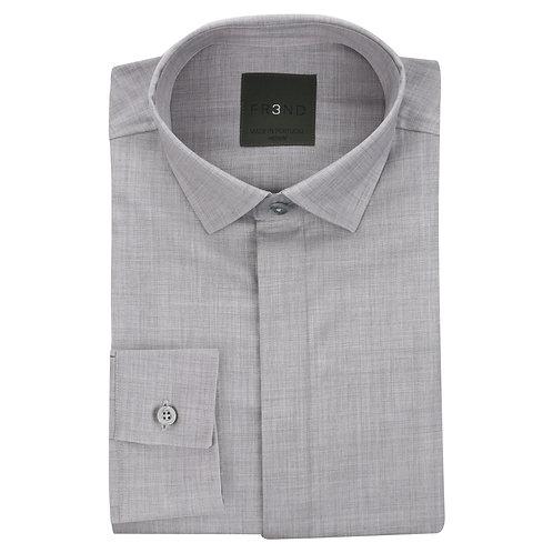 Merino Wool Shirt - Grey - Plain