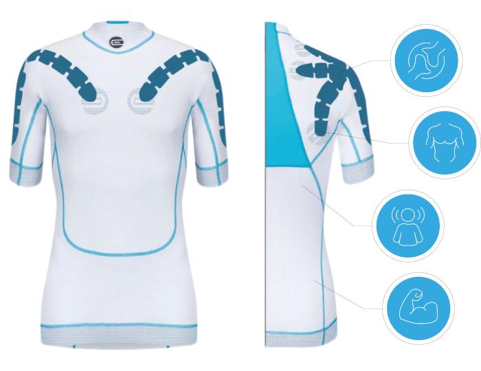 EXOSUIT Sportswear designed blue Asoocia