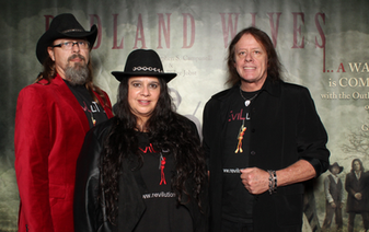Dan Seitz, Marie Burgess, and Scott Flynn of Southern California's Rock N' Roll band, REVILUTION.