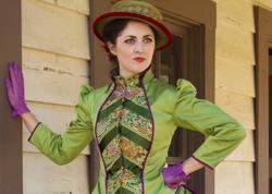 Kate Cummings with green dress sass
