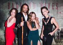 Badland Wives Cast members Gwenhwyfar Reagan James, Micah Fitzgerald, MaryRose Candenhead, and Stephanie Edmonds