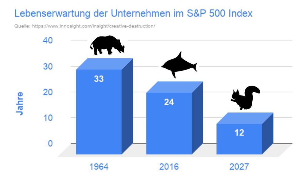 Lebenserwartung Unternehmen S&P 500