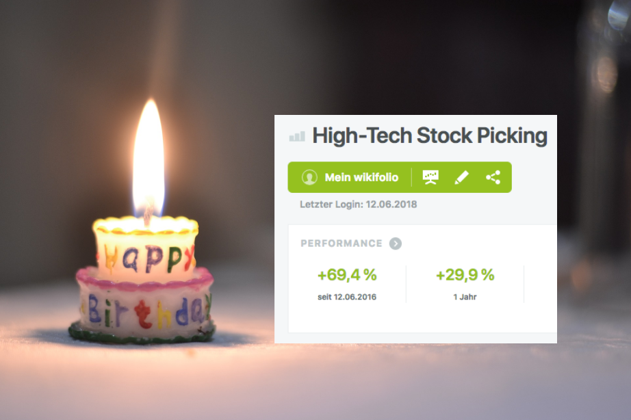 2. Geburtstag High-Tech Stock Picking wikifolio