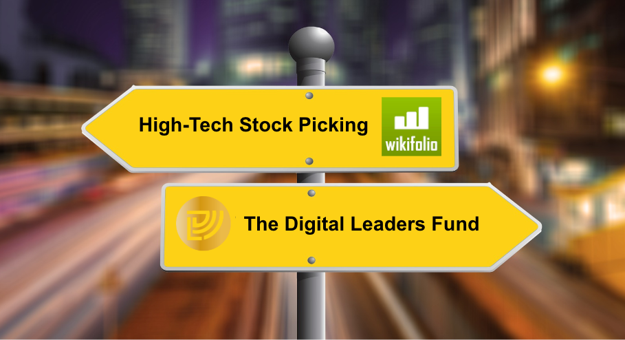 High-Tech Stock Picking wikifolio versus DLF