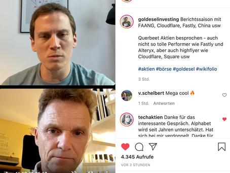 Aktien-Talk mit  Michael Flender jetzt auf Instagram TV