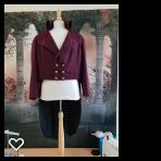 Wine frock coat