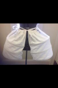 White Cotton Side Panniers