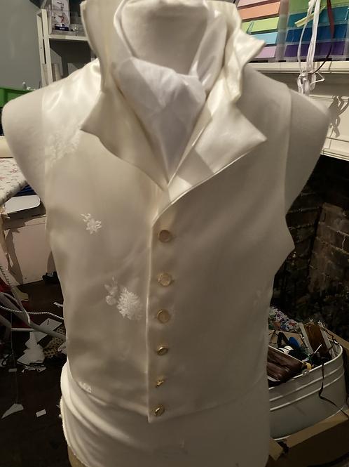 Silky brocade waistcoat